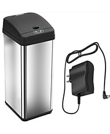 13 Gal Stainless Steel Sensor Trash Can with Deodorizer & AC Adapter