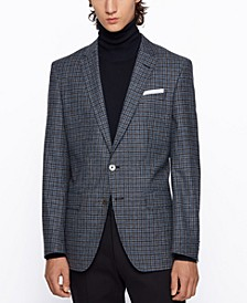 BOSS Men's Hutsons4 Melange Slim-Fit Jacket