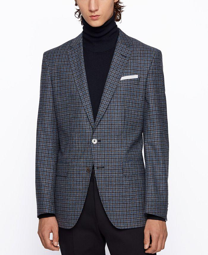 Hugo Boss - Men's Hutsons4 Melange Slim-Fit Jacket