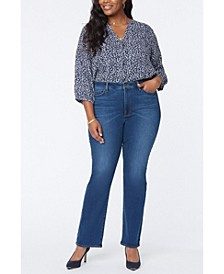 Plus Size Slim Bootcut Jeans
