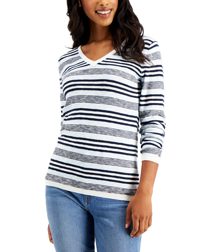 Tommy Hilfiger - Cotton Striped Sweater