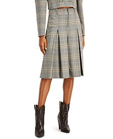INC Pleated Plaid Gaucho Pants, Created for Macy's