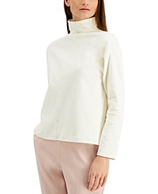 Mock-Neck Split-Hem Top, Created for Macy's