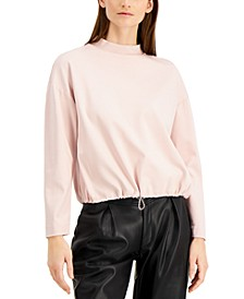 Mock-Neck Bungee-Hem Top, Created for Macy's