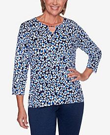 Women's Missy Vacation Mode Animal Print Sweater