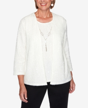Women's Missy Glacier Lake Sequin Two-for-One Sweater