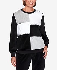 Women's Missy Modern Living Velour Colorblock Sweatshirt