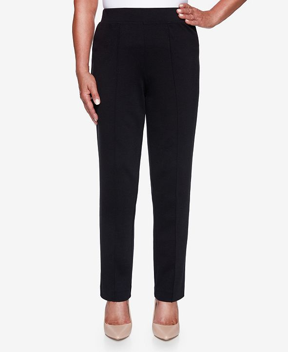 Alfred Dunner Women's Missy Knightsbridge Station Ponte Slim Proportioned Medium Pant