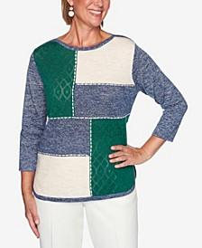 Women's Missy Hunter Mountain Embellished Colorblock Sweater