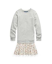 Big Girls Plaid Skirt Sweatshirt Dress