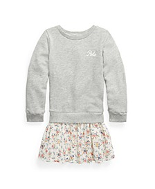 Toddler Girls Plaid Skirt Sweatshirt Dress