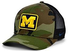 Michigan Wolverines Camo Trucker Cap