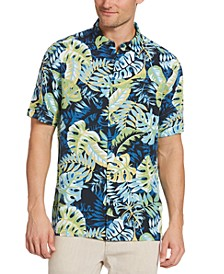Men's Big & Tall Tropical-Print Shirt