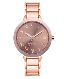 Women's Rose Gold-Tone Bracelet Watch, 37mm