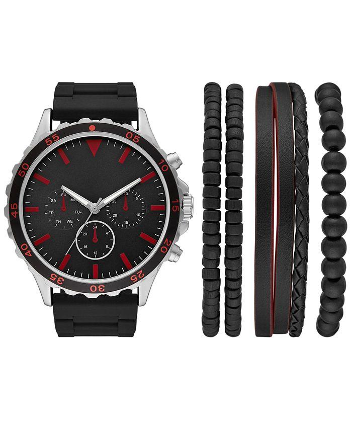 Folio - Men's Black Silicone Strap Watch 50mm