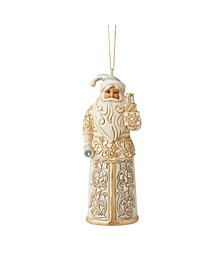 Holiday Lustre Santa Ornament