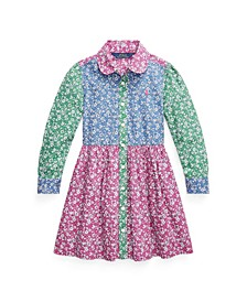 Little Girls Fun Fit-and-Flare Shirtdress