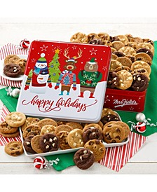 Happy Holidays 60 Nibblers Bite-Sized Cookie Tin