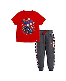 LEGO Toddler Boys T-shirt and French Terry Joggers Set