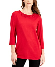 3/4 Crisscross Top, Created for Macy's