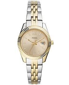 Fossil Women's Scarlette Mini Two-Tone Bracelet Watch 32mm