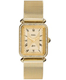 Women's Lyric Gold Mesh Strap Watch 28mm