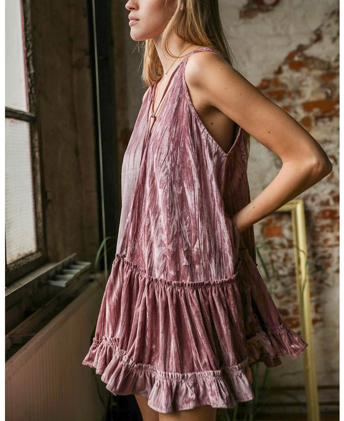 Free People - Pleated Plush Swing Dress