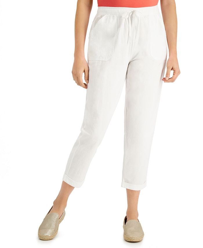 Karen Scott - Delilah Cotton Cuffed Capri Pull-On Pants