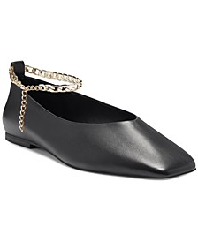 Women's Latenla Ankle Chain Ballet Flats