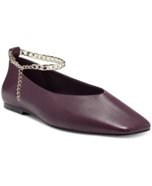 Vince Camuto WOMEN'S LATENLA ANKLE CHAIN BALLET FLATS WOMEN'S SHOES