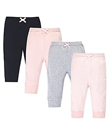 Baby Boys and Girls 4 Piece Organic Cotton Pants