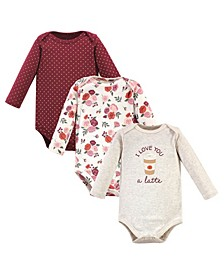 Baby Boys and Girls 3 Piece Cotton Long-Sleeve Bodysuits
