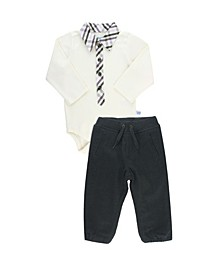 Baby Boys Long Sleeve Henley Bodysuit and Jogger Pant Set