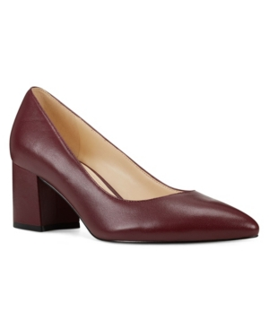 Nine West presents modern-classic style with these slip-on tves pumps styled with a comfy block heel for a sophisticated finish.
