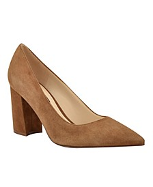 Cara Block-Heel Pumps