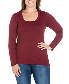 Women's Plus Size Long Sleeves T-Shirt