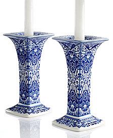 "Spode ""Judaica"" Sabbath Candlesticks, Set of 2"