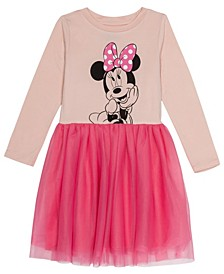 Toddler Girls Minnie Mouse Dress with Mesh Skirt