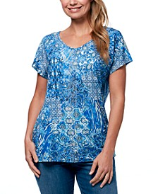Women's Opal Exotic Patchwork T-shirt