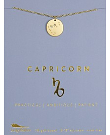 Zodiac Gold-Tone Charm Necklace, Capricorn
