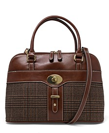 Plaid Glazed Dome Satchel, Created for Macy's