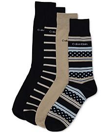 Men's 4-Pack Stripe & Dot Dress Socks