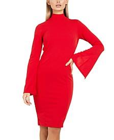 Flared-Sleeve Bodycon Dress