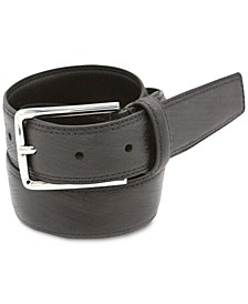 Men's Feather Edge Strap Leather Belt