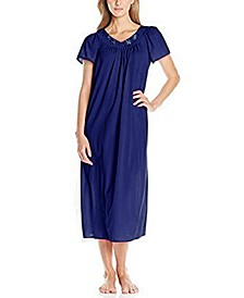 Petite Embroidered Long Nightgown