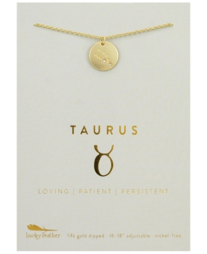 Zodiac Gold-Tone Charm Necklace