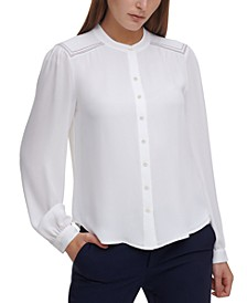Contrast-Stitched Blouse