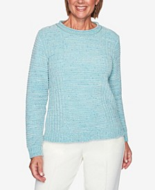 Women's Plus Size St. Moritz Fleck Chenille Solid Sweater