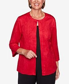 Women's Plus Size Knightsbridge Station Soft Suede Jacket