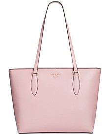 On Purpose Saffiano Leather Zip Top Tote